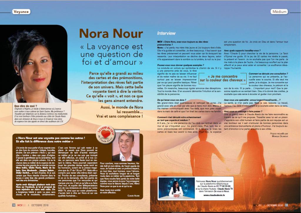 Média - Nora Nour Médium,Voyance dans le Nord et par téléphone b521ede16c83